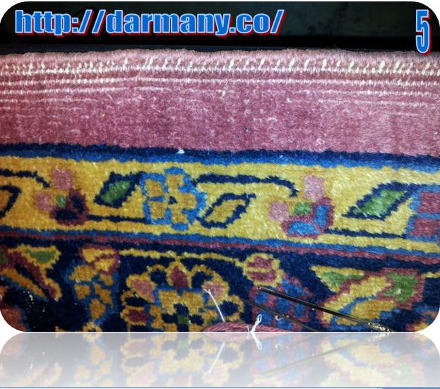 Cord Repair Of Antique Indian Agra Rug
