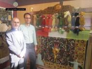 mr mosayebi(right) Merchant and master master Hossein Kazemi hamed