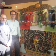 mr mosayebi(right) Merchant and master master Hossein Kazemi hamed