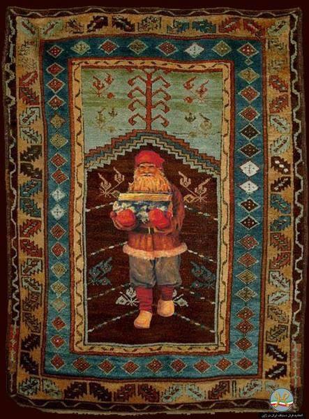 russian Santa Claus rug