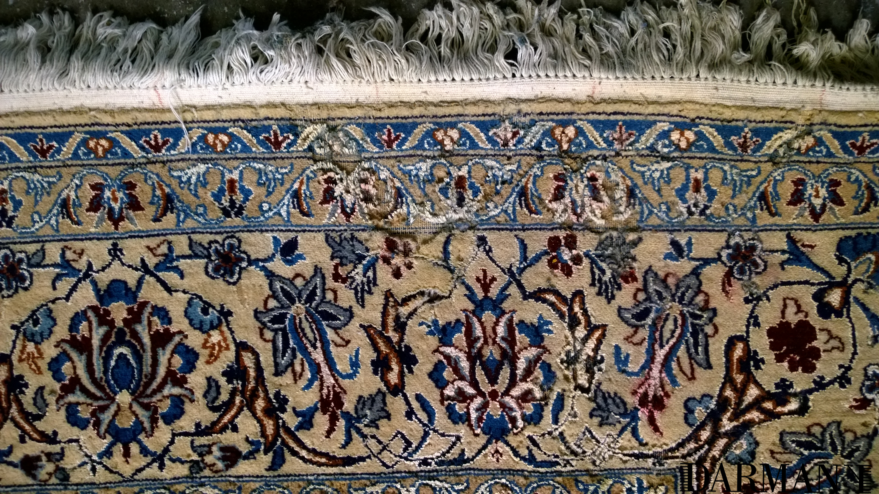 Persian Nain Cleaning And Dye Bleeding Removal Caused By