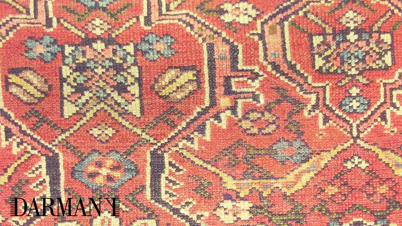 Antique Persian Bakhtiari Rug Cleaning And Repair With New